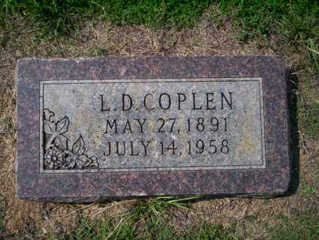 COPLEN, L.D. - Columbia County, Arkansas | L.D. COPLEN - Arkansas Gravestone Photos