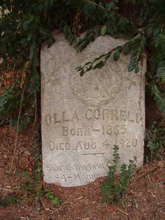 CORRELL, OLLA - Columbia County, Arkansas | OLLA CORRELL - Arkansas Gravestone Photos