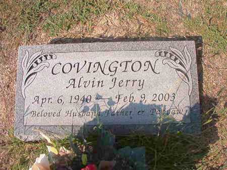 COVINGTON, ALVIN JERRY - Columbia County, Arkansas | ALVIN JERRY COVINGTON - Arkansas Gravestone Photos