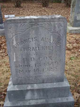 THRAILKILL COX, FRANCIS ADLINE - Columbia County, Arkansas | FRANCIS ADLINE THRAILKILL COX - Arkansas Gravestone Photos