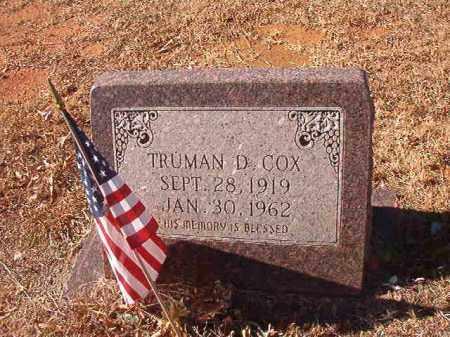 COX, TRUMAN D - Columbia County, Arkansas | TRUMAN D COX - Arkansas Gravestone Photos