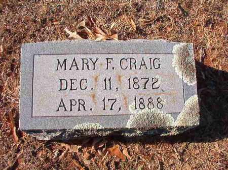 CRAIG, MARY F - Columbia County, Arkansas | MARY F CRAIG - Arkansas Gravestone Photos