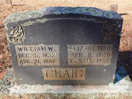 CRAIG, ELIZABETH H - Columbia County, Arkansas | ELIZABETH H CRAIG - Arkansas Gravestone Photos