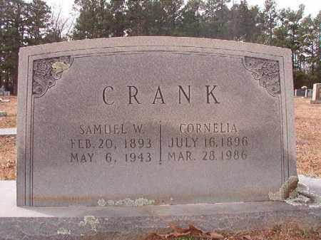 CRANK, SAMUEL W - Columbia County, Arkansas | SAMUEL W CRANK - Arkansas Gravestone Photos