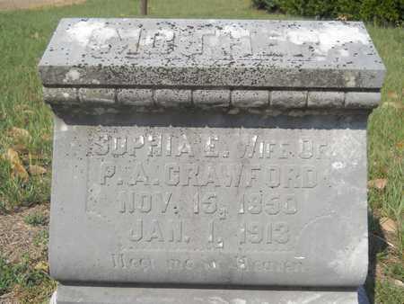 CRAWFORD, SOPHIA E - Columbia County, Arkansas   SOPHIA E CRAWFORD - Arkansas Gravestone Photos