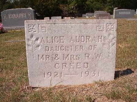 CREED, ALICE AUDRAH - Columbia County, Arkansas | ALICE AUDRAH CREED - Arkansas Gravestone Photos