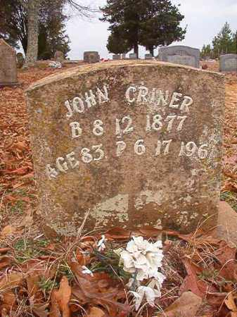 CRINER, JOHN - Columbia County, Arkansas | JOHN CRINER - Arkansas Gravestone Photos