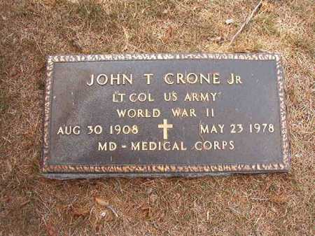 CRONE, JR (VETERAN WWII), JOHN T - Columbia County, Arkansas | JOHN T CRONE, JR (VETERAN WWII) - Arkansas Gravestone Photos