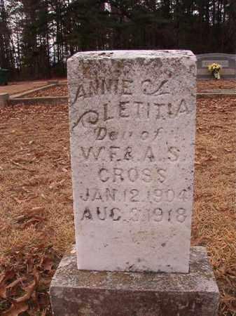 CROSS, ANNIE LETITIA - Columbia County, Arkansas | ANNIE LETITIA CROSS - Arkansas Gravestone Photos