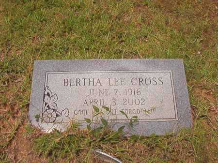 CROSS, BERTHA LEE - Columbia County, Arkansas | BERTHA LEE CROSS - Arkansas Gravestone Photos