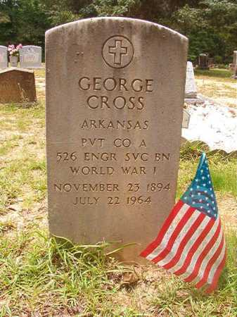 CROSS (VETERAN WWI), GEORGE - Columbia County, Arkansas | GEORGE CROSS (VETERAN WWI) - Arkansas Gravestone Photos