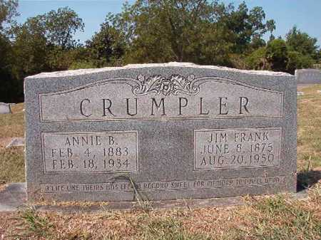 CRUMPLER, ANNIE B - Columbia County, Arkansas | ANNIE B CRUMPLER - Arkansas Gravestone Photos