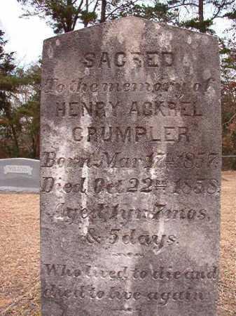 CRUMPLER, HENRY ACKREL - Columbia County, Arkansas | HENRY ACKREL CRUMPLER - Arkansas Gravestone Photos
