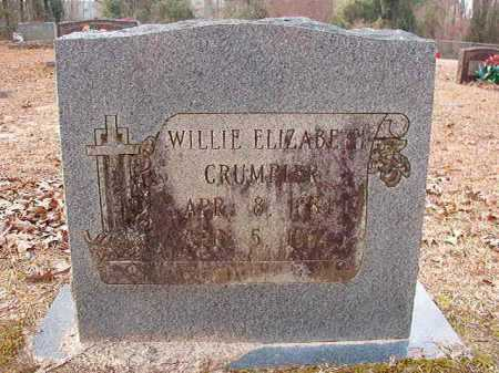 CRUMPLER, WILLIE ELIZABETH - Columbia County, Arkansas | WILLIE ELIZABETH CRUMPLER - Arkansas Gravestone Photos