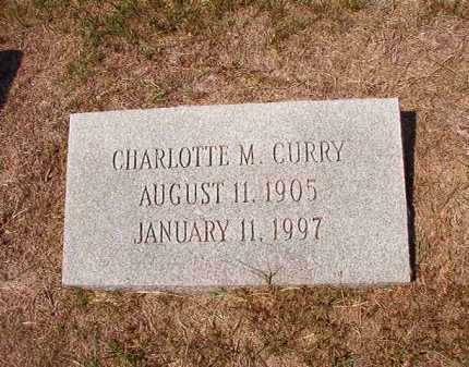 CURRY, CHARLOTTE M - Columbia County, Arkansas | CHARLOTTE M CURRY - Arkansas Gravestone Photos