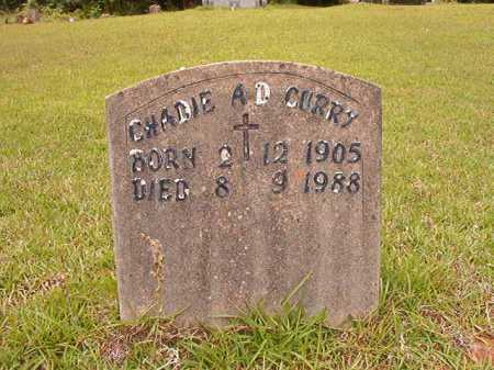 CURRY, CHADIE A D - Columbia County, Arkansas | CHADIE A D CURRY - Arkansas Gravestone Photos