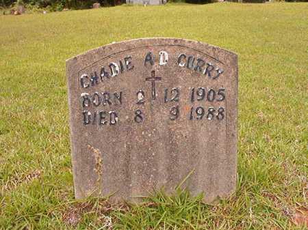 CURRY, CHADIE A D - Columbia County, Arkansas | CHADIE A D CURRY - Arkansas Gravestone Photos