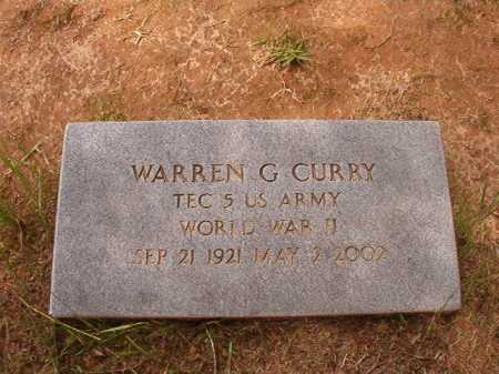 CURRY (VETERAN WWII), WARREN G - Columbia County, Arkansas | WARREN G CURRY (VETERAN WWII) - Arkansas Gravestone Photos