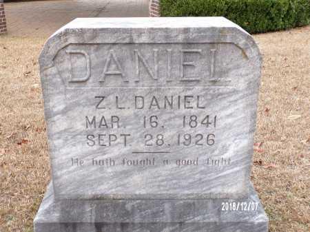 DANIEL, Z L - Columbia County, Arkansas | Z L DANIEL - Arkansas Gravestone Photos