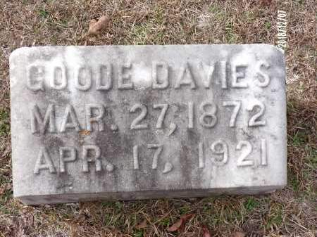 DAVIES, GOODE - Columbia County, Arkansas | GOODE DAVIES - Arkansas Gravestone Photos