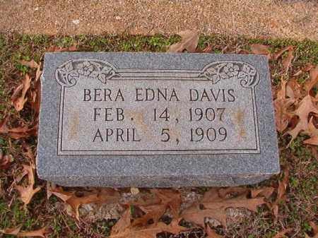 DAVIS, BERA EDNA - Columbia County, Arkansas | BERA EDNA DAVIS - Arkansas Gravestone Photos
