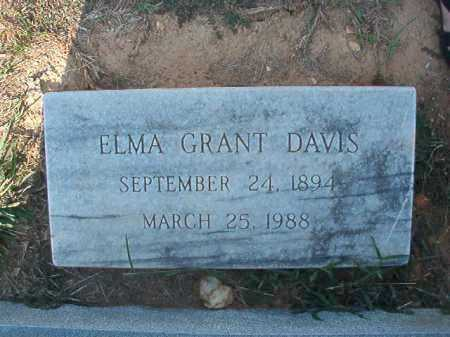 GRANT DAVIS, ELMA - Columbia County, Arkansas | ELMA GRANT DAVIS - Arkansas Gravestone Photos