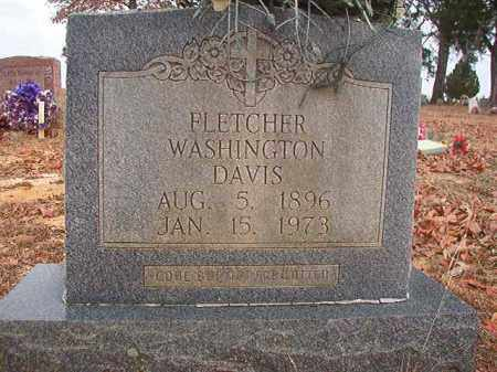 DAVIS, FLETCHER WASHINGTON - Columbia County, Arkansas | FLETCHER WASHINGTON DAVIS - Arkansas Gravestone Photos