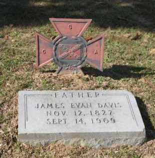 DAVIS, JAMES EVAN - Columbia County, Arkansas | JAMES EVAN DAVIS - Arkansas Gravestone Photos