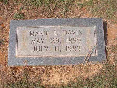 DAVIS, MARIE L - Columbia County, Arkansas | MARIE L DAVIS - Arkansas Gravestone Photos