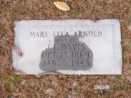 ARNOLD DAVIS, MARY - Columbia County, Arkansas | MARY ARNOLD DAVIS - Arkansas Gravestone Photos