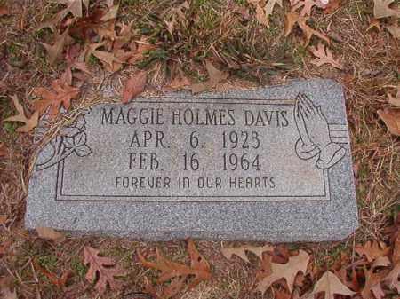 HOLMES DAVIS, MAGGIE - Columbia County, Arkansas | MAGGIE HOLMES DAVIS - Arkansas Gravestone Photos