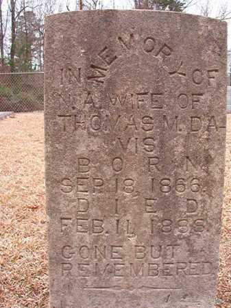 DAVIS, N A - Columbia County, Arkansas | N A DAVIS - Arkansas Gravestone Photos