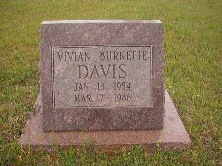 DAVIS, VIVIAN BURNETTE - Columbia County, Arkansas | VIVIAN BURNETTE DAVIS - Arkansas Gravestone Photos