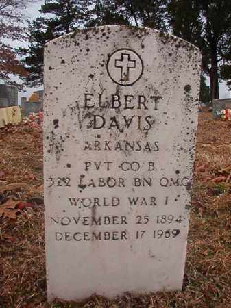 DAVIS (VETERAN WWI), ELBERT - Columbia County, Arkansas | ELBERT DAVIS (VETERAN WWI) - Arkansas Gravestone Photos