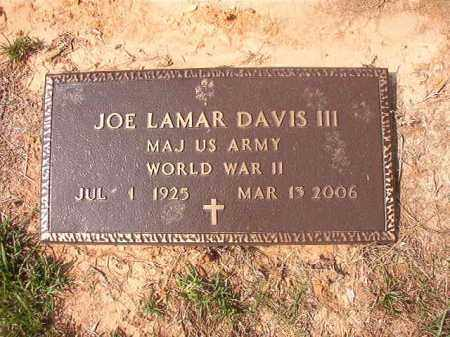DAVIS (VETERAN WWII), JOE LAMAR - Columbia County, Arkansas | JOE LAMAR DAVIS (VETERAN WWII) - Arkansas Gravestone Photos