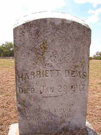 DEAS, HARRIETT - Columbia County, Arkansas | HARRIETT DEAS - Arkansas Gravestone Photos
