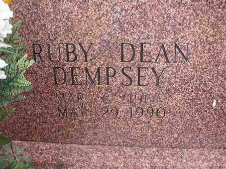 DEMPSEY, RUBY DEAN - Columbia County, Arkansas | RUBY DEAN DEMPSEY - Arkansas Gravestone Photos