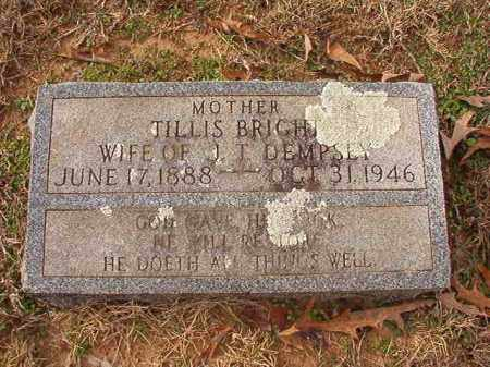 DEMPSEY, TILLIS - Columbia County, Arkansas | TILLIS DEMPSEY - Arkansas Gravestone Photos