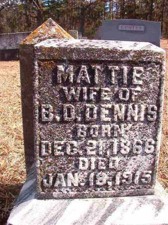 DENNIS, MATTIE - Columbia County, Arkansas | MATTIE DENNIS - Arkansas Gravestone Photos