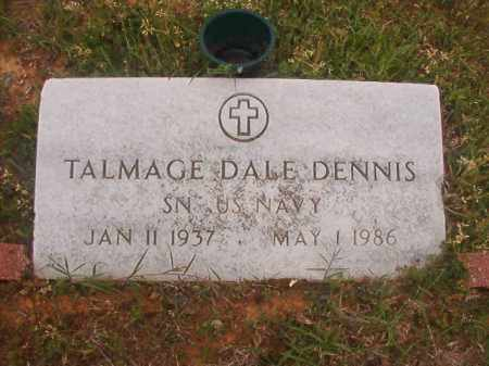 DENNIS (VETERAN), TALMAGE DALE - Columbia County, Arkansas | TALMAGE DALE DENNIS (VETERAN) - Arkansas Gravestone Photos