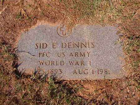 DENNIS (VETERAN WWI), SID E - Columbia County, Arkansas | SID E DENNIS (VETERAN WWI) - Arkansas Gravestone Photos