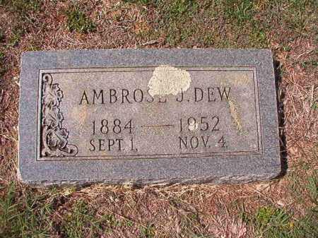 DEW, AMBROSE J - Columbia County, Arkansas | AMBROSE J DEW - Arkansas Gravestone Photos
