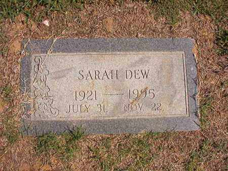 DEW, SARAH - Columbia County, Arkansas | SARAH DEW - Arkansas Gravestone Photos