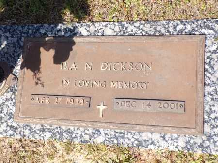 DICKSON, ILA N - Columbia County, Arkansas | ILA N DICKSON - Arkansas Gravestone Photos