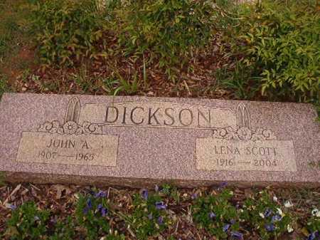 SCOTT DICKSON, LENA - Columbia County, Arkansas | LENA SCOTT DICKSON - Arkansas Gravestone Photos