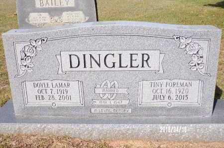 DINGLER, DOYLE LAMAR - Columbia County, Arkansas | DOYLE LAMAR DINGLER - Arkansas Gravestone Photos