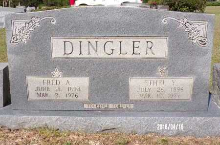 DINGLER, ETHEL Y - Columbia County, Arkansas | ETHEL Y DINGLER - Arkansas Gravestone Photos