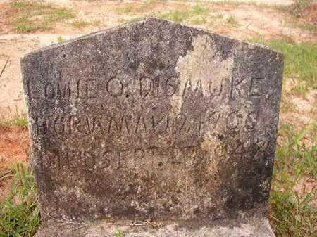DISMUKE, LONIE O - Columbia County, Arkansas | LONIE O DISMUKE - Arkansas Gravestone Photos