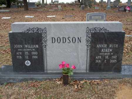 ASKEW DODSON, ANNIE RUTH - Columbia County, Arkansas | ANNIE RUTH ASKEW DODSON - Arkansas Gravestone Photos
