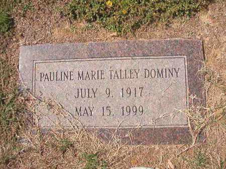 DOMINY, PAULINE MARIE - Columbia County, Arkansas | PAULINE MARIE DOMINY - Arkansas Gravestone Photos